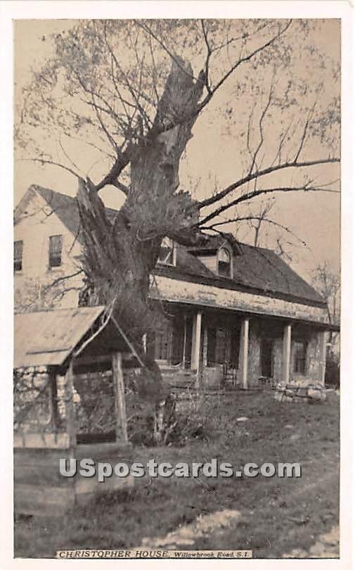 Christopher House - Staten Island, New York NY Postcard