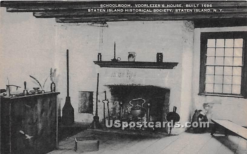 Schoolroom, Coorlezer's House 1696 - Staten Island, New York NY Postcard