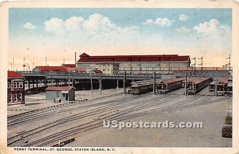 Ferry Terminal, St George - Staten Island, New York NY Postcard