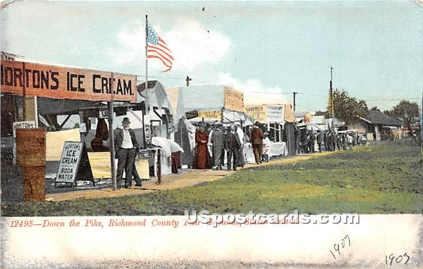 Richmond County Fair Grounds - Staten Island, New York NY Postcard