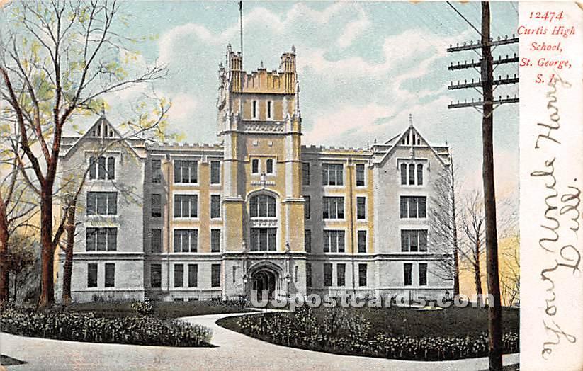 Curtis High School, St George - Staten Island, New York NY Postcard