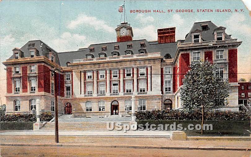Borough Hall, St George - Staten Island, New York NY Postcard