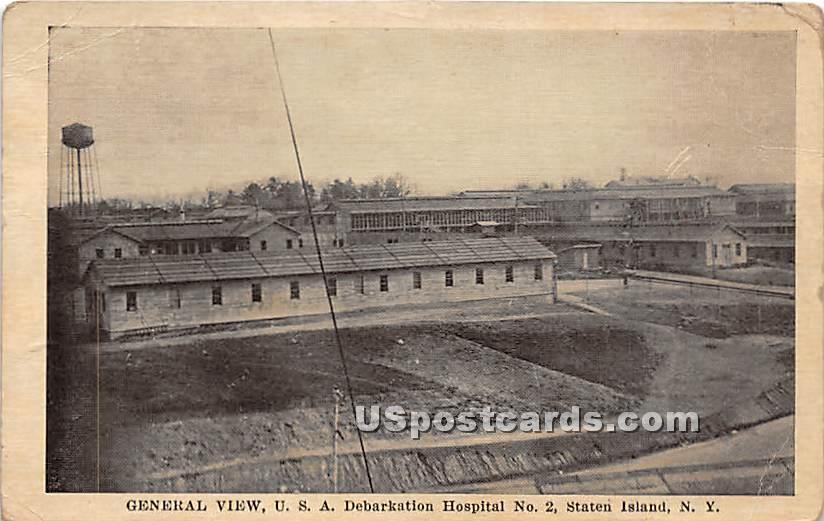 USA Debarkation Hospital No 2 - Staten Island, New York NY Postcard