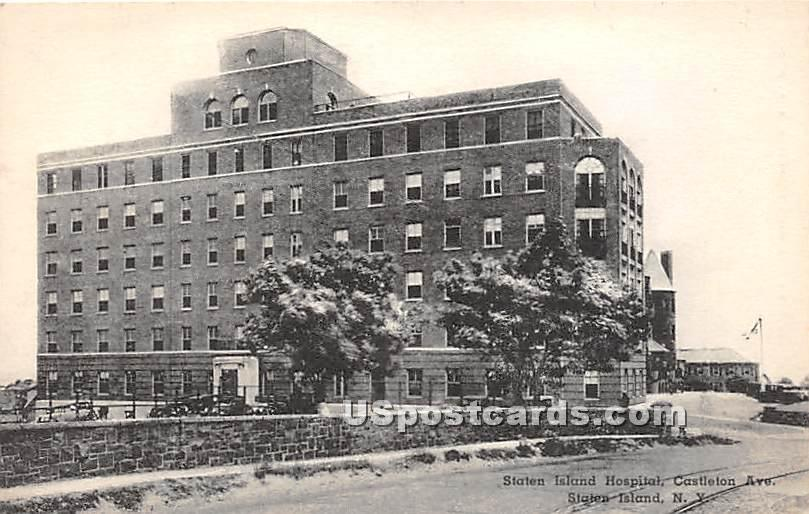 State Island Hospital - Staten Island, New York NY Postcard