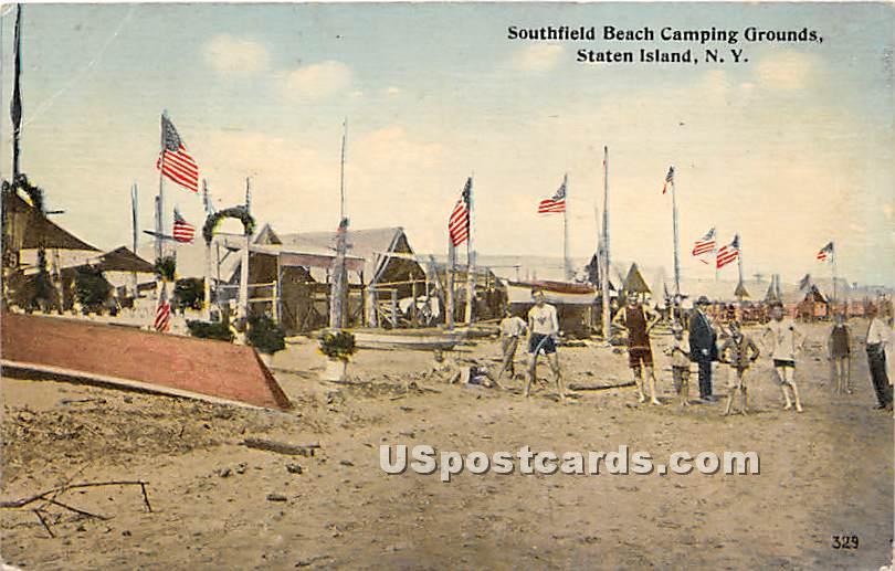 Southfield Beach Camping Grounds - Staten Island, New York NY Postcard