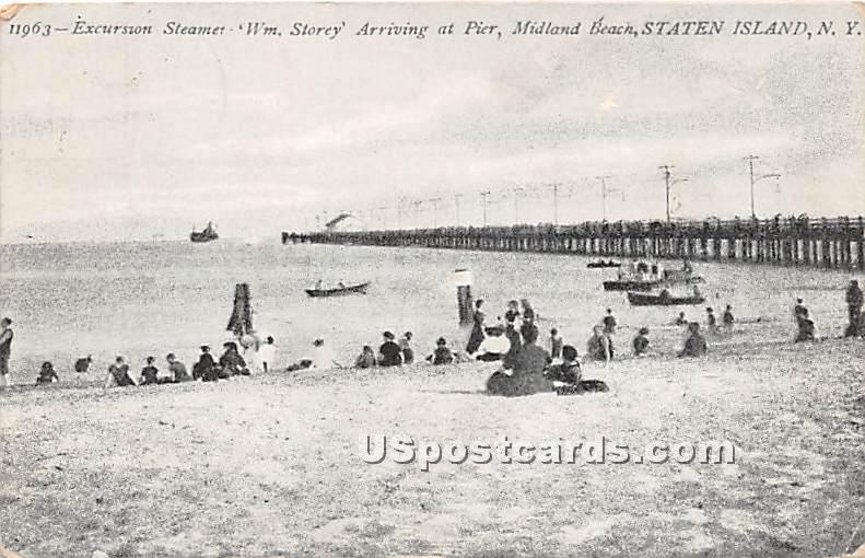 Excursion Steamer, WM Storey - Staten Island, New York NY Postcard