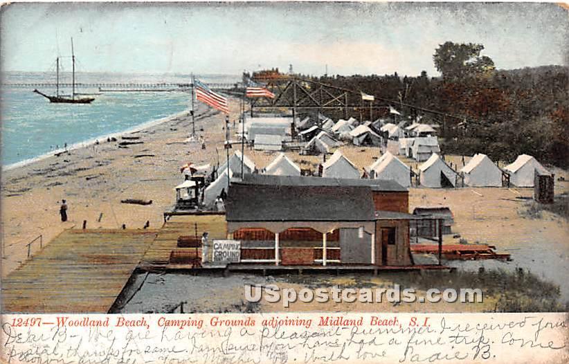 Woodland Beach - Staten Island, New York NY Postcard