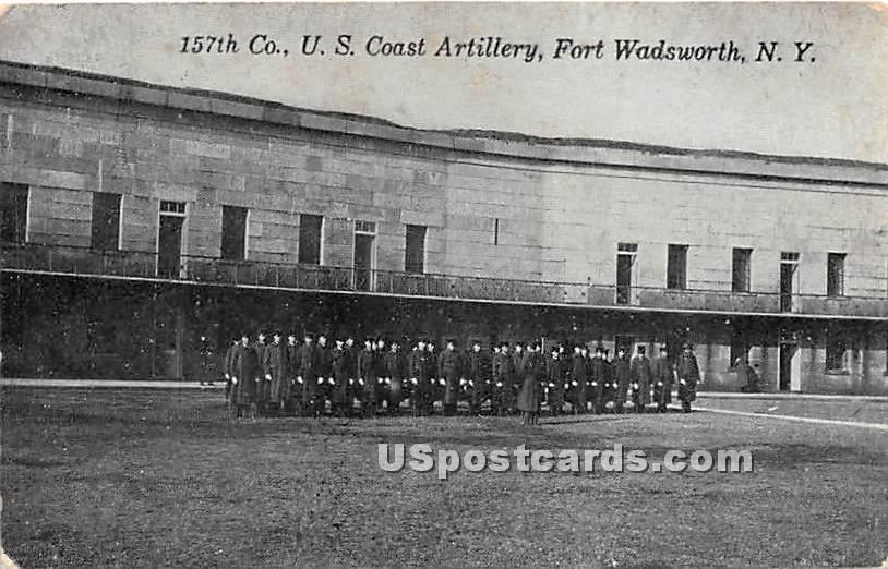 US Coast Artillery, Fort Wadsworth - Staten Island, New York NY Postcard
