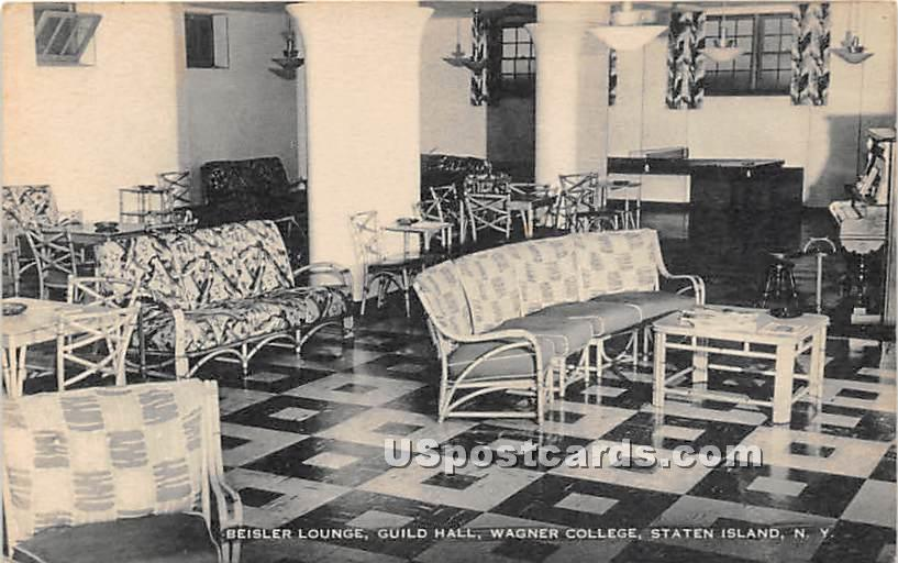 Beisler Lounge, Guild Hall, Wagner College - Staten Island, New York NY Postcard