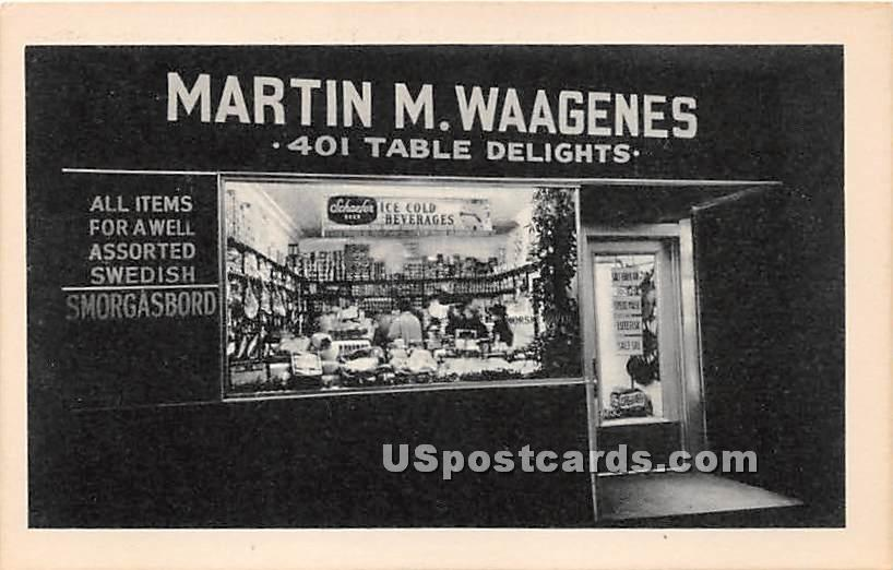 Martin M Waagenes - Staten Island, New York NY Postcard
