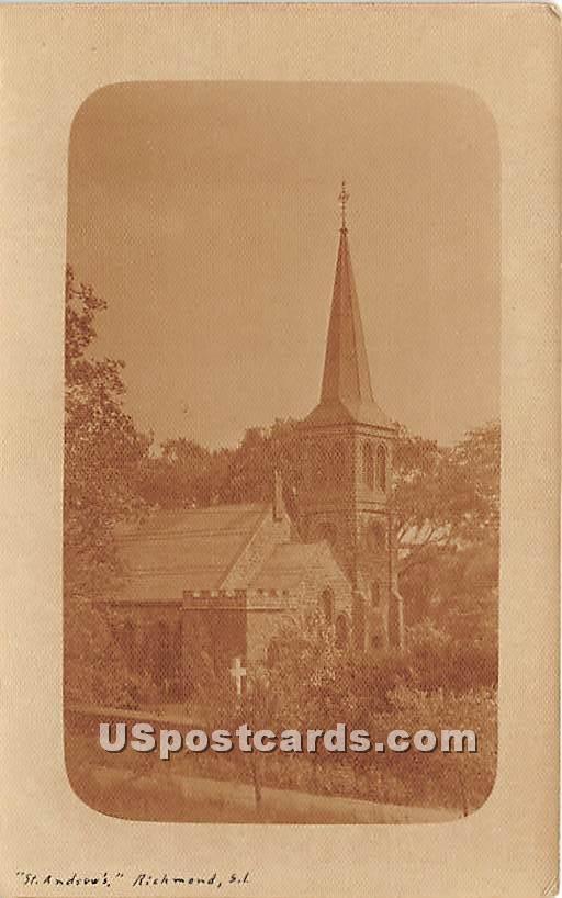 St Andrew's Church - Staten Island, New York NY Postcard