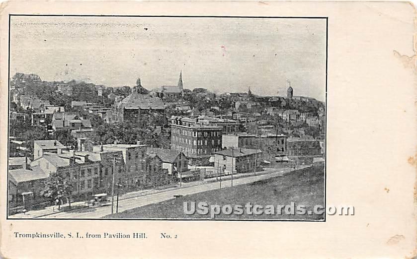 Trompkinsville, Pavilion Hill - Staten Island, New York NY Postcard