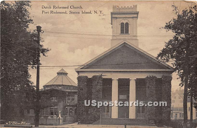 Dutch Reformed Church - Staten Island, New York NY Postcard