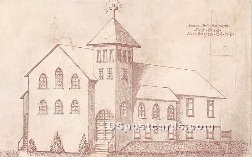 West Brighton - Staten Island, New York NY Postcard