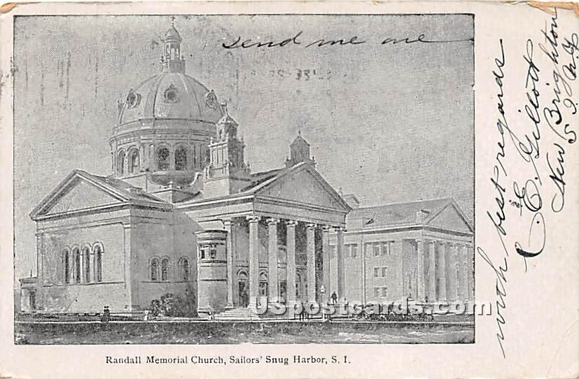 Randall Memorial Church, Sailors' Snug Harbor - Staten Island, New York NY Postcard