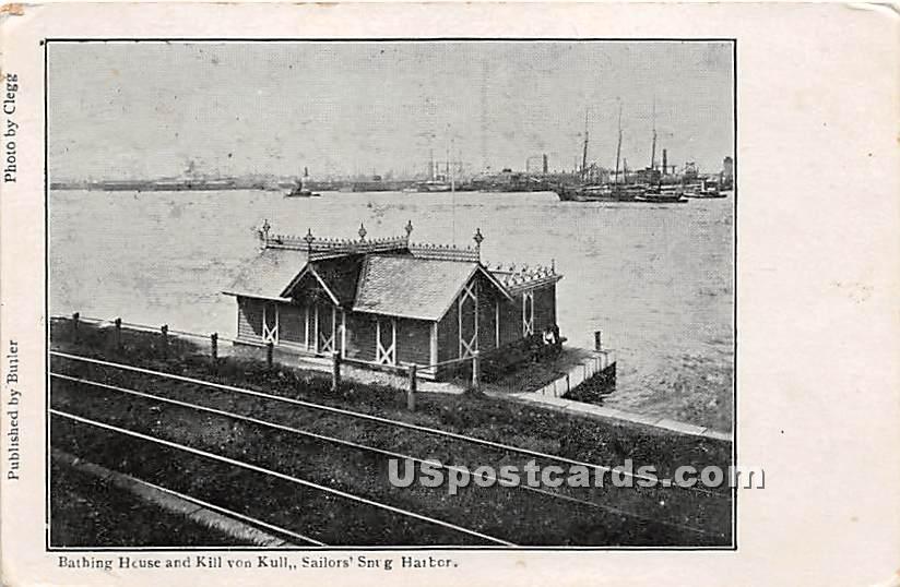 Bathing House, Kill Von Kull - Staten Island, New York NY Postcard