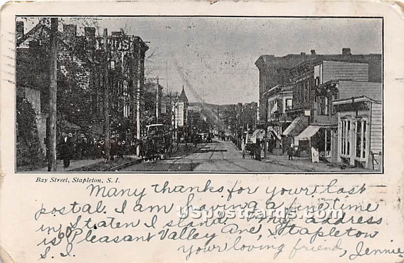 Bay Street, Stapleton - Staten Island, New York NY Postcard