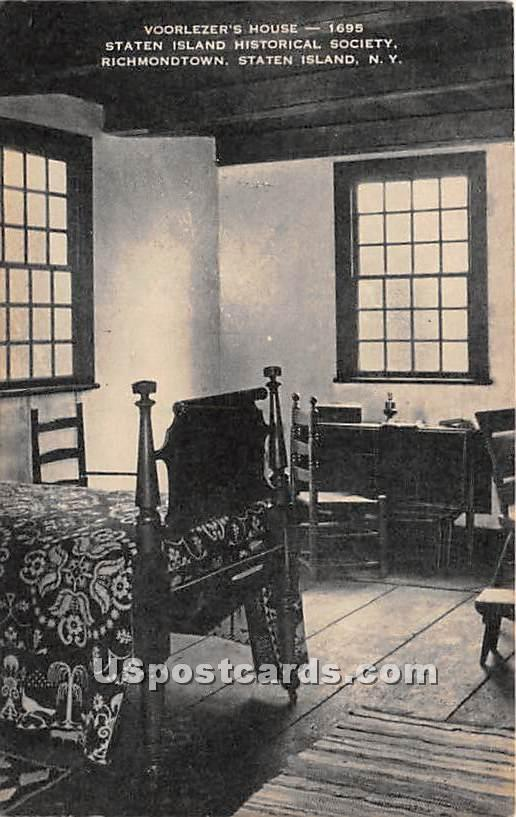 Voorlezer's House - Staten Island, New York NY Postcard