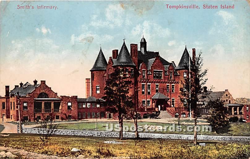 Smith's Infirmary, Tompkinsville - Staten Island, New York NY Postcard