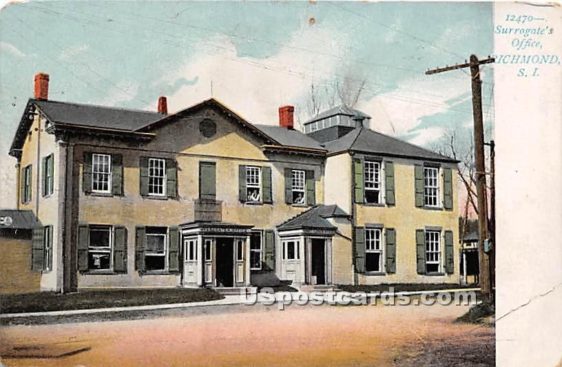Surrogate's Office, Richmond - Staten Island, New York NY Postcard