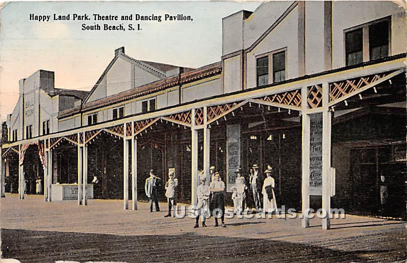 Happy Land Park - Staten Island, New York NY Postcard
