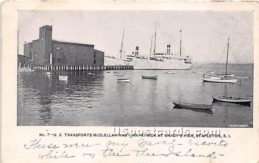 US Transports McClellan - Staten Island, New York NY Postcard