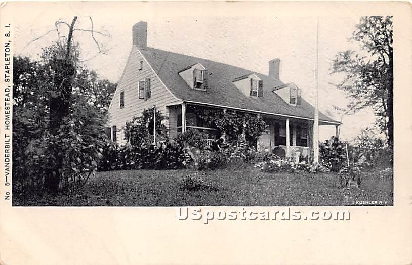 Vanderbilt Homestead - Staten Island, New York NY Postcard