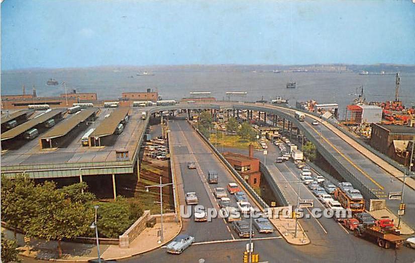 State Island Ferry Terminal - Staten Island, New York NY Postcard