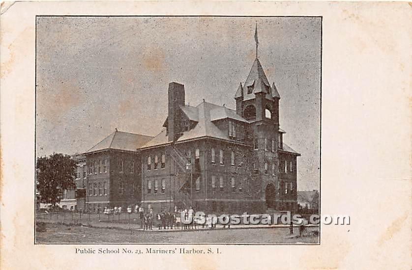 Public School No 23 - Staten Island, New York NY Postcard