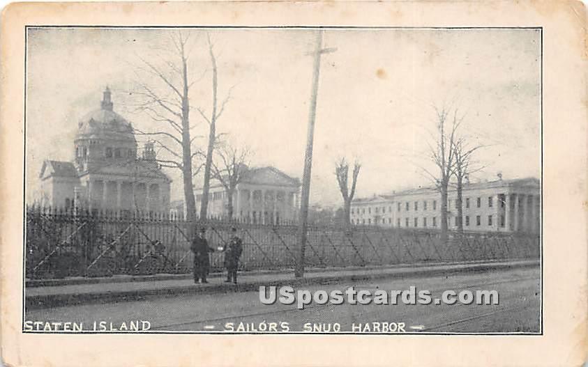 Sailors' Snug Harbor - Staten Island, New York NY Postcard
