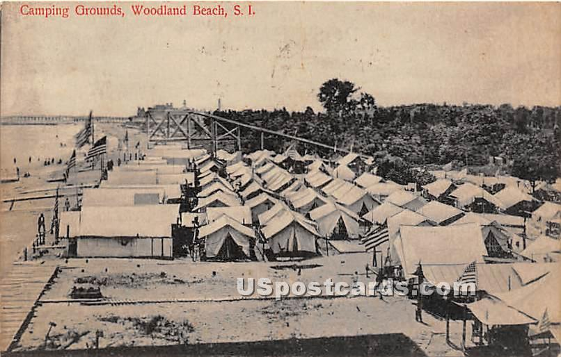 Camping Grounds, Woodland Beach - Staten Island, New York NY Postcard