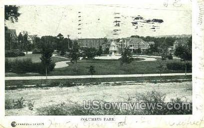 Columbus Park - Syracuse, New York NY Postcard