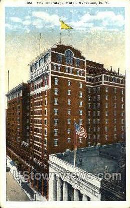 The Onondaga Hotel - Syracuse, New York NY Postcard