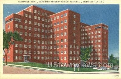 Veterans' Admin Hospital - Syracuse, New York NY Postcard