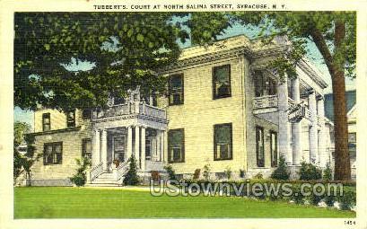 Tubbert's Court, Salina Street - Syracuse, New York NY Postcard