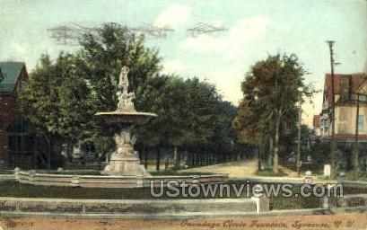 Onondaga Circle Fountain - Syracuse, New York NY Postcard