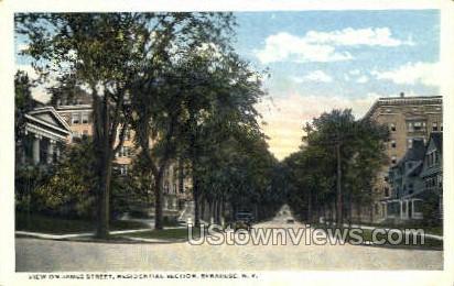 James Street - Syracuse, New York NY Postcard