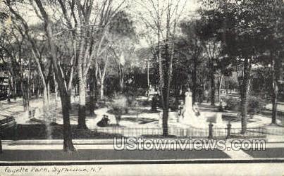 Fayette Park - Syracuse, New York NY Postcard