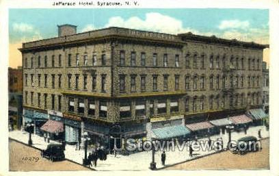 Jefferson Hotel - Syracuse, New York NY Postcard