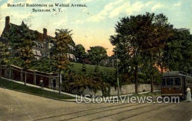 Walnut Ave. - Syracuse, New York NY Postcard