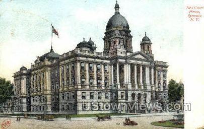 New Court House - Syracuse, New York NY Postcard