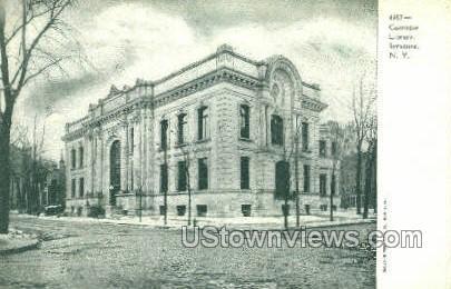 Carnegie Library - Syracuse, New York NY Postcard