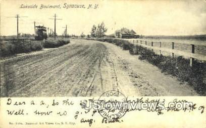 Lakeside Blvd. - Syracuse, New York NY Postcard