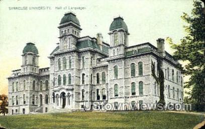 Syracuse University - New York NY Postcard