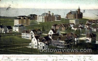 University Hill - Syracuse, New York NY Postcard