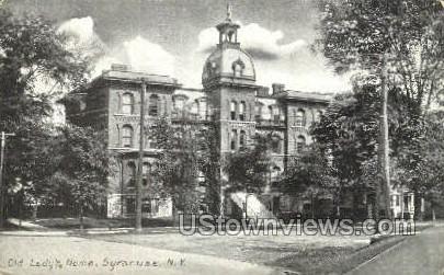 Old Lady's Home - Syracuse, New York NY Postcard