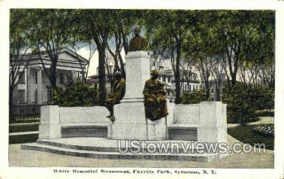 White Memorial Monument - Syracuse, New York NY Postcard