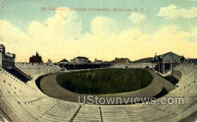 Stadium, Syracuse University - New York NY Postcard
