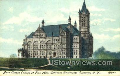 John Crouse College of Fine Arts - Syracuse, New York NY Postcard