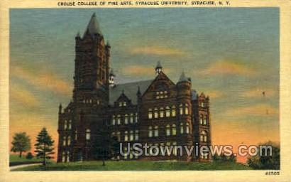 Crouse College of Fine Arts - Syracuse, New York NY Postcard
